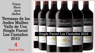 Recomendado: Terrazas de los Andes - Malbec V. de Uco - Single P. Los Castaños 2013